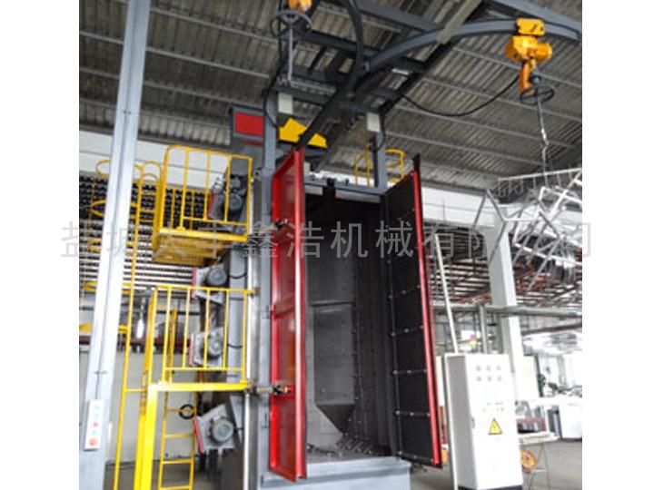 满幕式丸砂分离器在吊钩式抛丸机运行过程中的作用